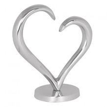 Wohnling Design Deko Herz Amour aus Aluminium Skulptur Farbe Silber