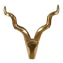 Wohnling Wanddekoration Geweih Deer M 65 cm Aluminium Gold