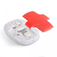 XLayer Zusatzakku XLayer Powerbank All-in-One Red/White 4.000mAh Smartphones/Tablets