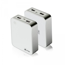 XLayer Zusatzakku XLayer Powerbank X-Charger White 10.000mAh Smartphones/Tablets