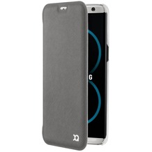 xqisit Flap Cover Adour for Galaxy S8 Plus grau