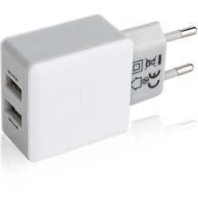 xqisit Travel Charger 3,4A USB weiß