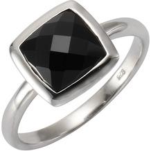 ZEEme Jewelry Ring 925/- Sterling Silber rhod. Achat schwarz weiß 52 (16,6)