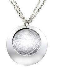 ZEEme Silver Anhänger mit Kette 925/- Sterling Silber zweiteilig weiß