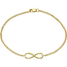 ZEEme Silver Armband 925/- Sterling Silber Infinity gelb