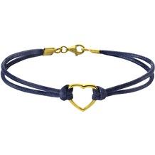 ZEEme Silver Armband 925/- Sterling Silber Textilarmband blau