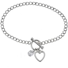 ZEEme Silver Armband 925/- Sterling Silber Zirkonia weiß