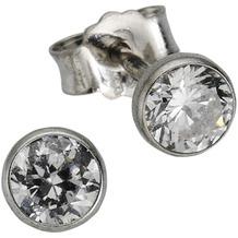 ZEEme Silver Ohrstecker, 925/- Silber, Zirkonia