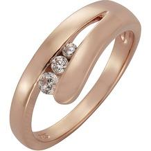ZEEme Silver Ring 925/- Sterling Silber Zirkonia weiß rot 16 (50,5)