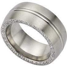 ZEEme Stainless Steel Ring Edelstahl Zirkonia weiß 54 (17,2)