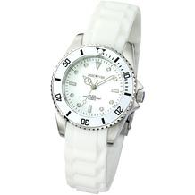 ZEEme Watches Damen-Armbanduhr Silikon weiß