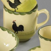 zeller keramik Kaffeebecher 0,35l Hahn und Henne