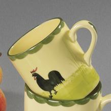 zeller keramik Kinderbecher 0,2l Hahn und Henne