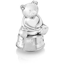 Zilverstad Spardose Bär mit Herz mit Spieluhr