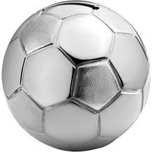 Zilverstad Spardose Fußball 8,5x8,5x8cm versilbert