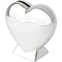 Zilverstad Spardose Herz auf Fuß  Silber