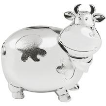 Zilverstad Spardose Kuh groß versilbert und lack geschützt