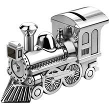 Zilverstad Spardose Zug/Lokomotive 15,5x5,5x8cm versilbert