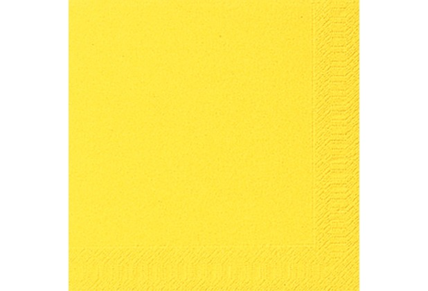 duni servietten 3lagig tissue uni gelb 33 x 33 cm 20 st ck. Black Bedroom Furniture Sets. Home Design Ideas