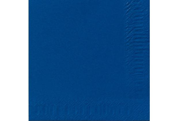 duni servietten 3lagig tissue uni dunkelblau 33 x 33 cm 50 st ck. Black Bedroom Furniture Sets. Home Design Ideas