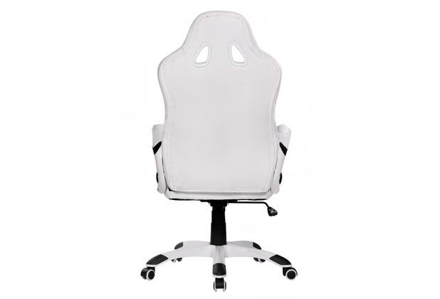 amstyle racer sport b rostuhl chefsessel kunstleder weiss ebay. Black Bedroom Furniture Sets. Home Design Ideas