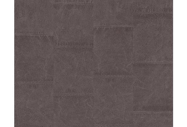 as cr ation mustertapete in lederoptik new england 2. Black Bedroom Furniture Sets. Home Design Ideas