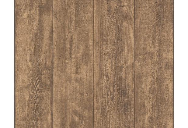 AS Création Mustertapete Wood`n Stone, Tapete, Holzoptik ...