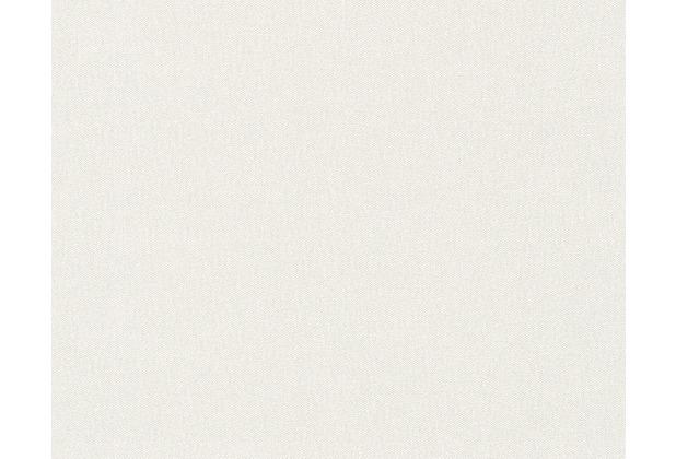 ... -/Strukturtapete Fleuri Pastel, Tapete, grau, weiss 10,05 m x 0,53 m