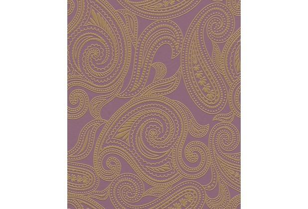 Barbara Becker Tapete T?rkis : Barbara Becker Vliestapete b.b home passion, violett gold 716726
