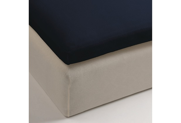 beddinghouse jersey split topper spannbettlaken navy. Black Bedroom Furniture Sets. Home Design Ideas