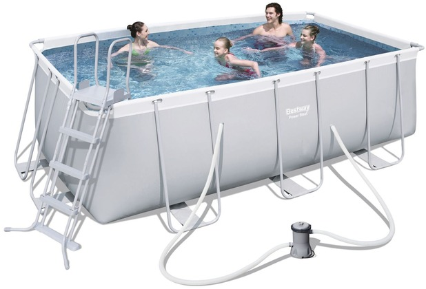 bestway frame pool power steel set 412x201x122 cm ebay. Black Bedroom Furniture Sets. Home Design Ideas