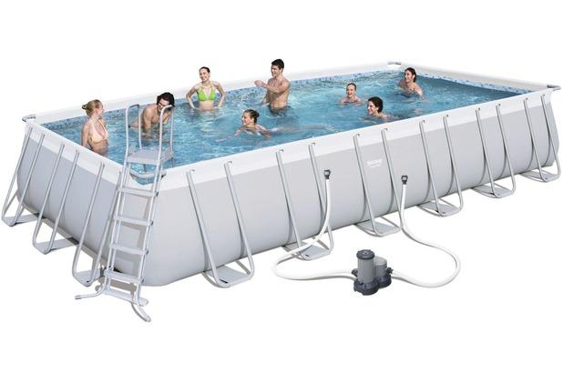 bestway frame pool power steel set 732x366x132 cm ebay. Black Bedroom Furniture Sets. Home Design Ideas