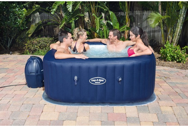 bestway whirlpool lay z spa hawaii blau 180x180x71 cm ebay. Black Bedroom Furniture Sets. Home Design Ideas