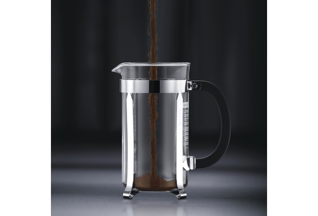 bodum chambord kaffeebereiter 0 5 l 4 tassen gl nzend ebay. Black Bedroom Furniture Sets. Home Design Ideas
