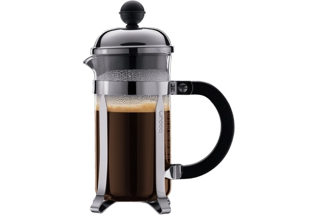 bodum chambord kaffeebereiter 3 tassen l gl nzend. Black Bedroom Furniture Sets. Home Design Ideas