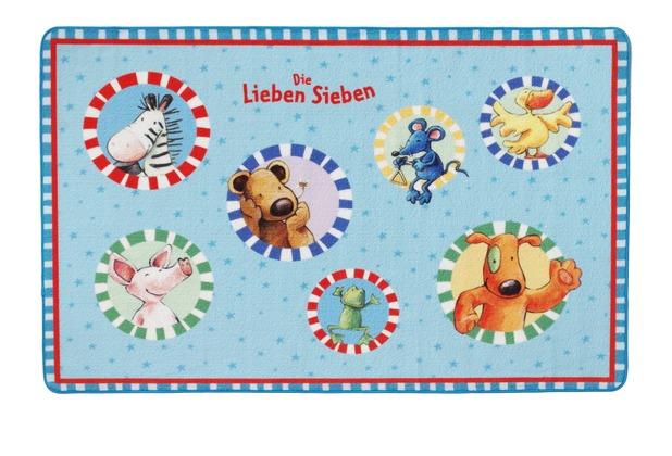 Die Lieben Sieben , Teppich, LS202, 100 x 160 cm, mit