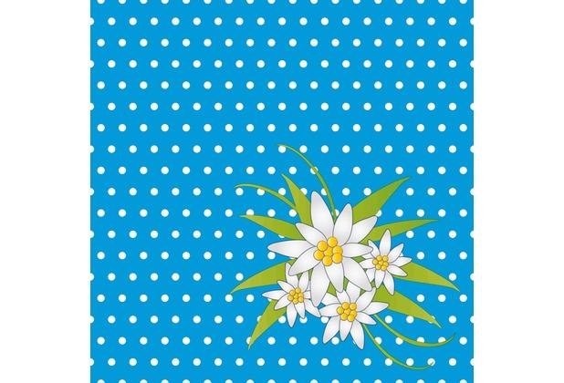 duni servietten 3 lagig motiv edelweiss blue 33 x 33 cm 20 st ck. Black Bedroom Furniture Sets. Home Design Ideas