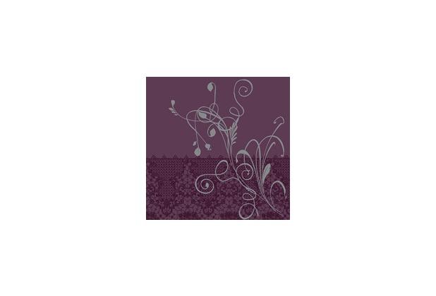 duni poesie servietten aus dunilin motiv lea plum 40 x 40. Black Bedroom Furniture Sets. Home Design Ideas