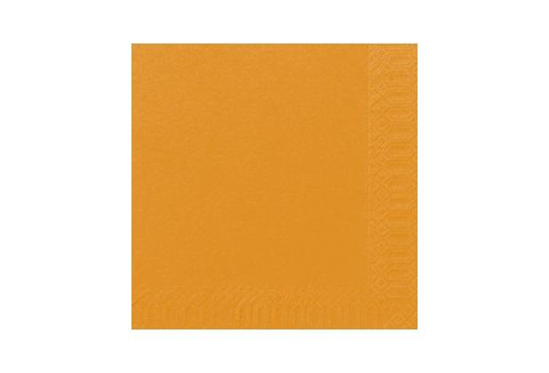 duni servietten tissue 33 x 33 cm uni 3 lagig 20 st ck orange. Black Bedroom Furniture Sets. Home Design Ideas