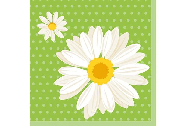 duni tissue servietten 33 x 33 cm my daisy green 20 st ck. Black Bedroom Furniture Sets. Home Design Ideas