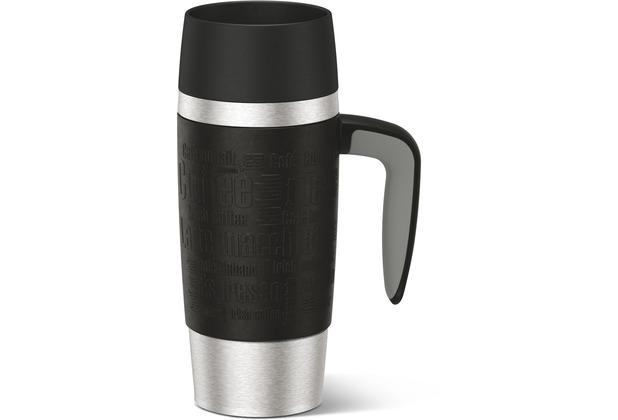 emsa isolierbecher travel mug handle schwarz 0 36 liter ebay. Black Bedroom Furniture Sets. Home Design Ideas