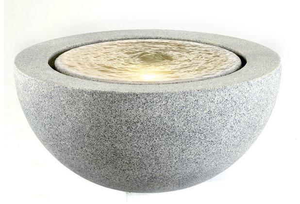 ESTERAS Zimmerbrunnen Yeso Stone Granite Grey (Outdoor geeignet) Ø57x30 cm