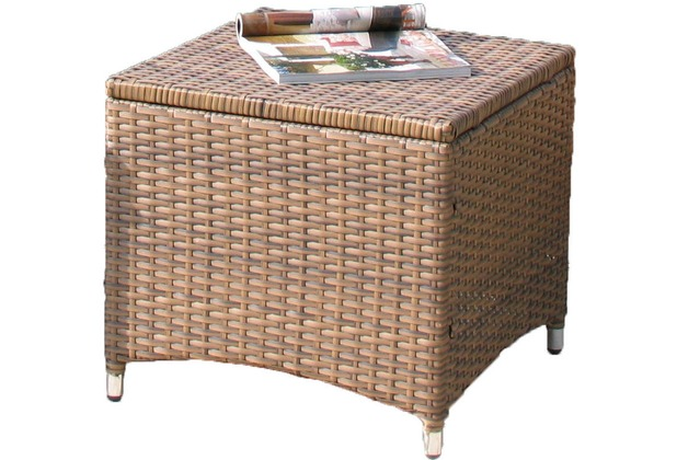 famous home rattan hocker brasil 50x50cm braun ebay. Black Bedroom Furniture Sets. Home Design Ideas