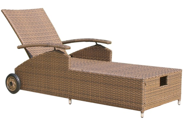 famous home rattan liege brasil 198cm gartenliege sonnenliege relaxliege braun. Black Bedroom Furniture Sets. Home Design Ideas