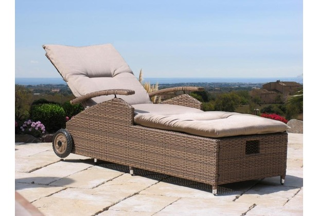 gartenliege rattan. Black Bedroom Furniture Sets. Home Design Ideas