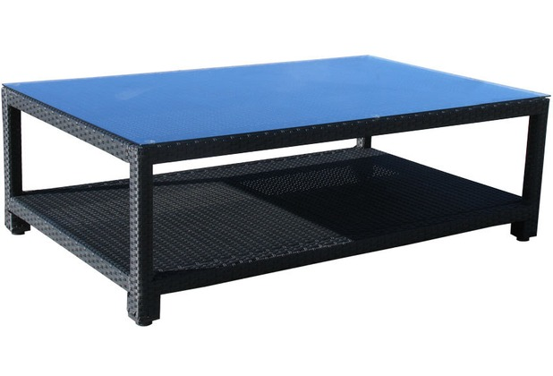 famous home rattan lounge tisch 140x90cm lanzarote. Black Bedroom Furniture Sets. Home Design Ideas