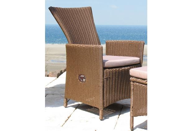 famous home rattan sessel verstellbar inkl sitzkissen gartensessel polyrattan braun. Black Bedroom Furniture Sets. Home Design Ideas