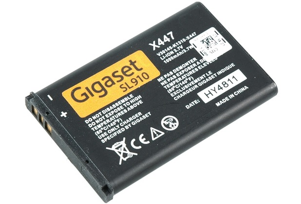 gigaset akku 1000 mah x447 f r sl910h ebay. Black Bedroom Furniture Sets. Home Design Ideas