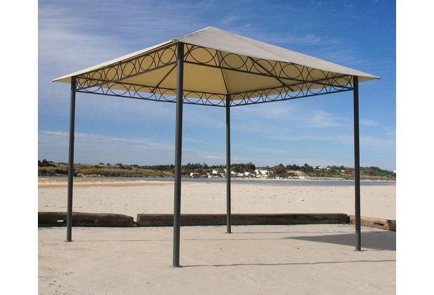 grasekamp 2 seitenteile mit fenster zu stil pavillon 3x4m sand sand ebay. Black Bedroom Furniture Sets. Home Design Ideas