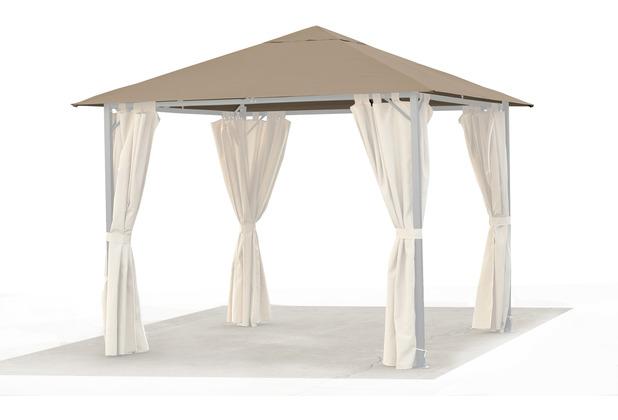 grasekamp ersatzdach roma pavillon 3x3 meter sand beige. Black Bedroom Furniture Sets. Home Design Ideas